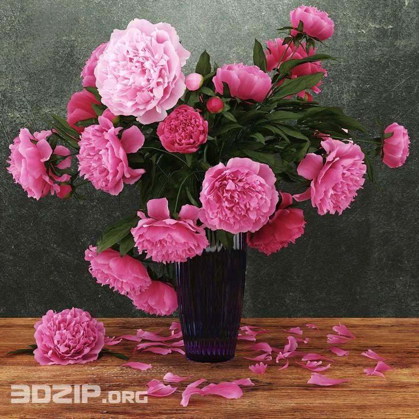 3d Flower Vase Model 48 Free Download Flower Vases Vase Plant Decor