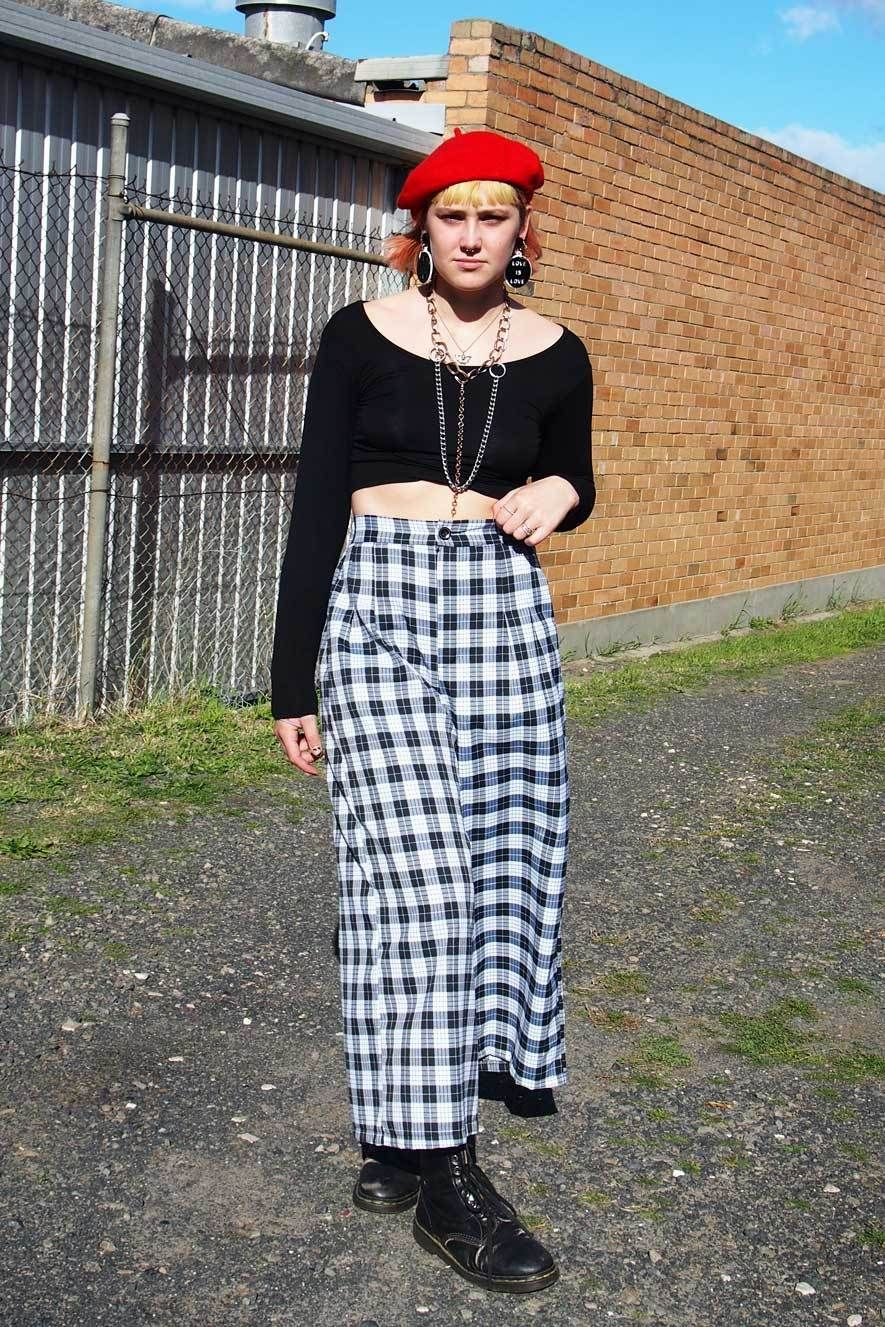 80311fe3450 Black and White Tartan Cullotte Pants – Grandma Funk