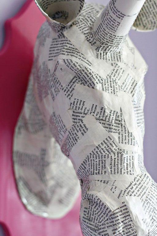 Paper Mache Animal Heads (A Tutorial)   Paper Mache Tut