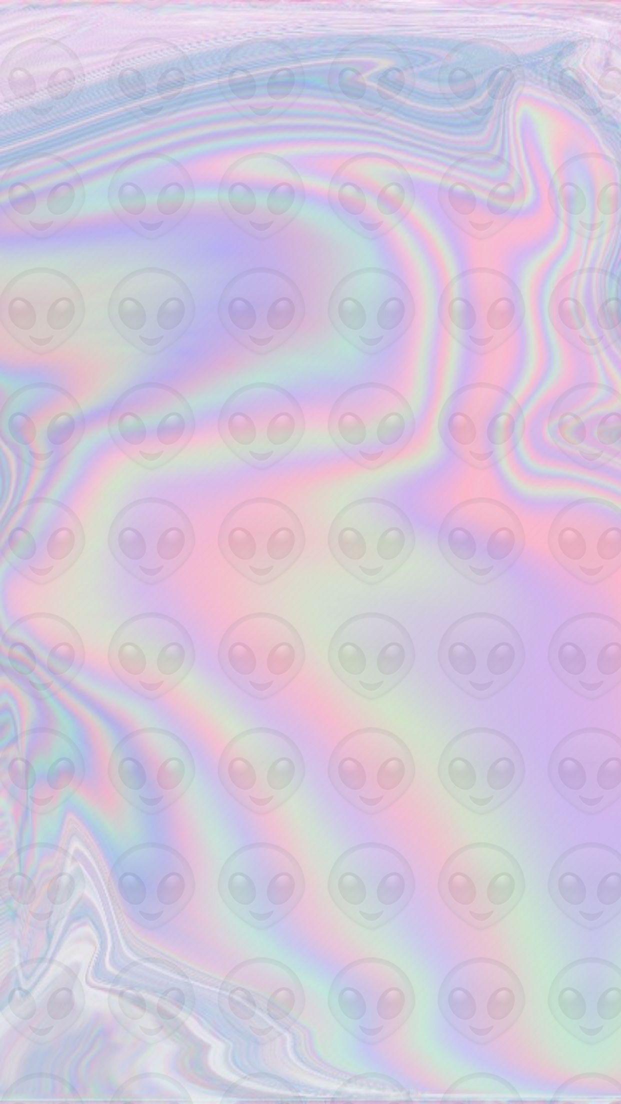 Alien Hologram Holograph Holographic Iridescent Emoji Wallpaper Wallpapers Background Ba Holographic Wallpapers Emoji Wallpaper Free Android Wallpaper