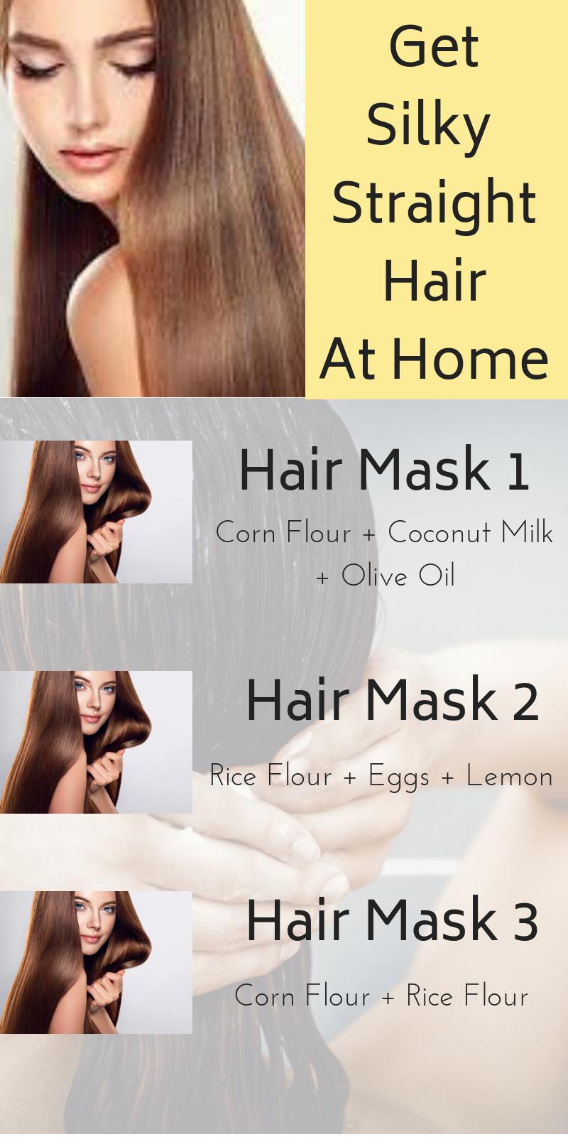 Diy Hair Straightening Hair Masks That Will Make Your Hair Silky Straight Hair Haircare Diy Howto Hairma Best Hair Mask Straightening Hair Tips Silky Hair