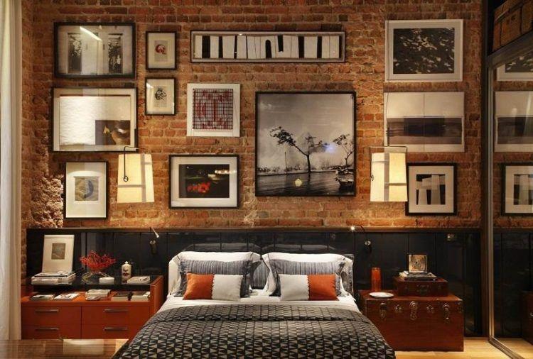 Image result for bedroom ideas brick wall bedroom ideas