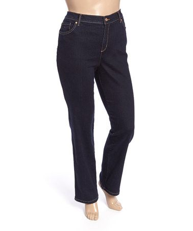 Love this New Indigo Amanda Jeans - Plus on #zulily! #zulilyfinds