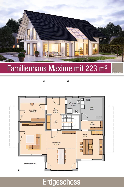Familienhaus Grundriss 223 m² 5 Zimmer Erdgeschoss