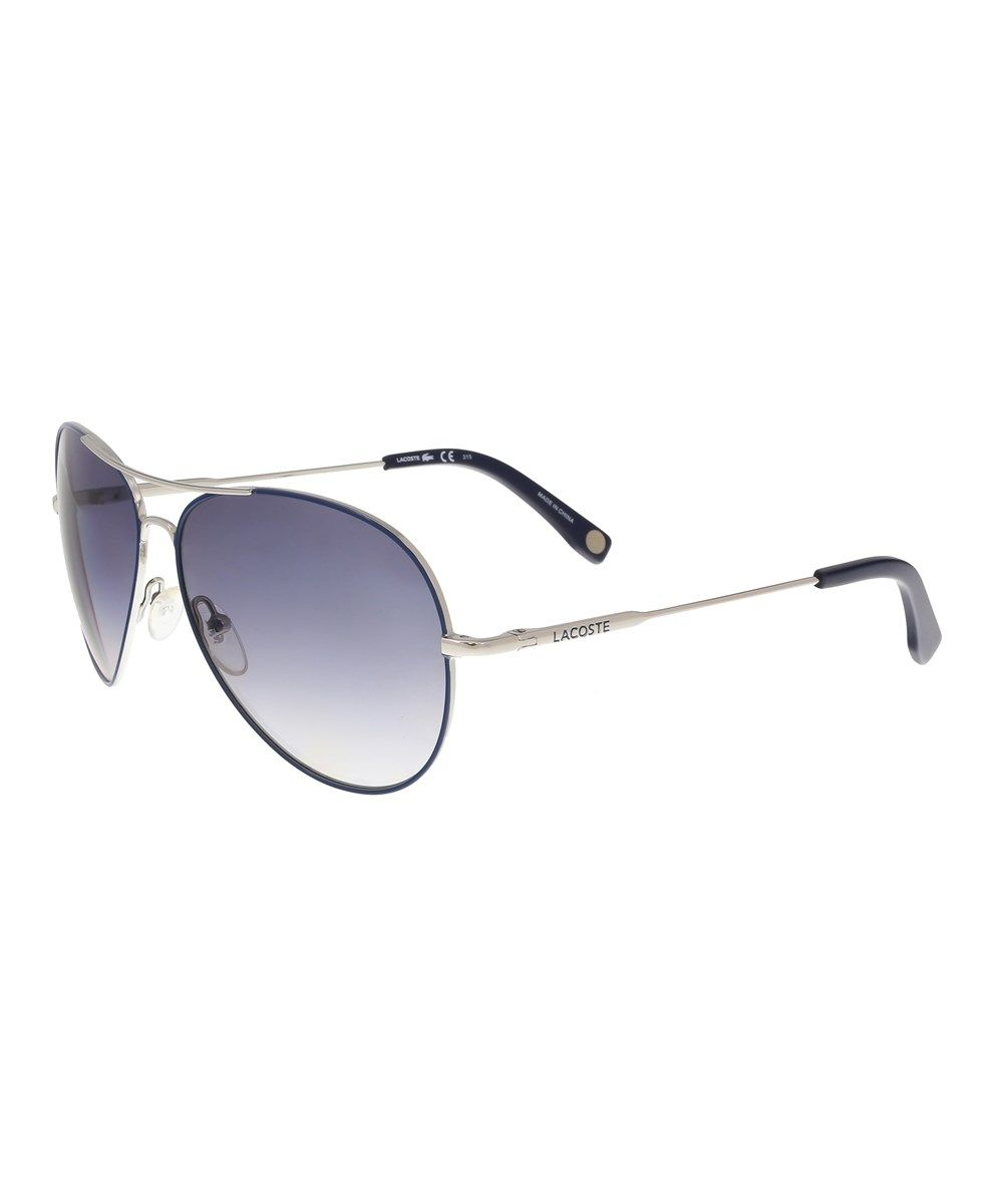 ea7a7386aa LACOSTE L174 S 045 Navy Blue Aviator Sunglasses .  lacoste  sunglasses