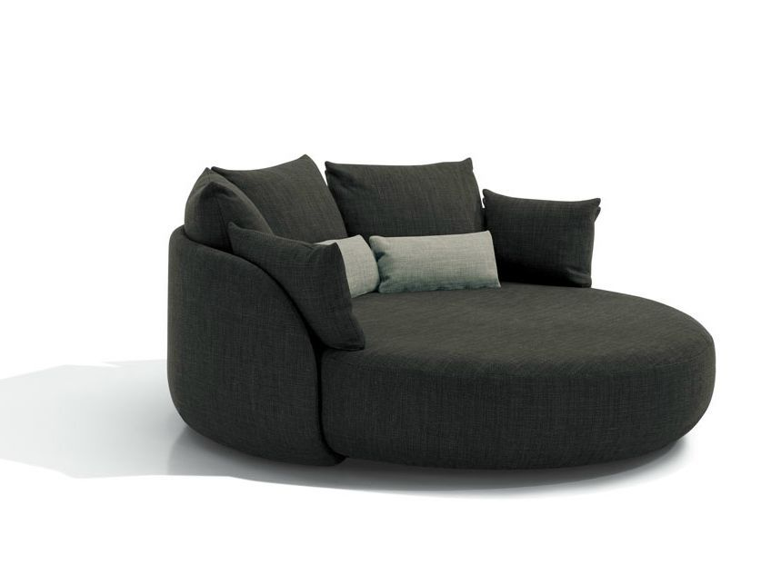 Nice Cosy Grey Round Sofa Design