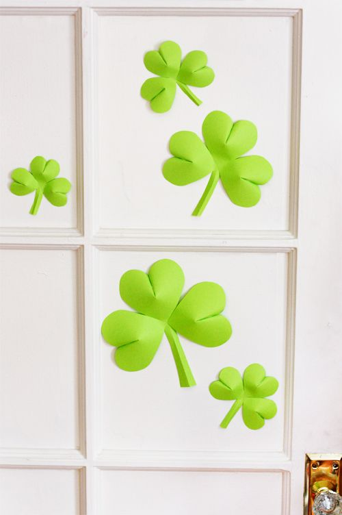 Easy Paper Shamrock Decorations  Shamrock Template Tutorials And