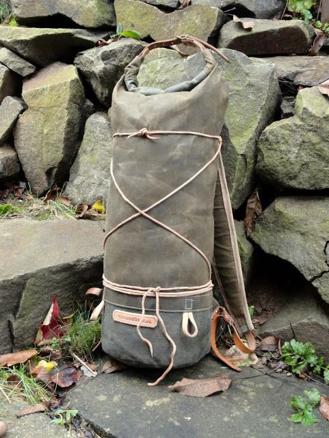 Sold Handmade Waxed Canvas Rolltop Pack Waxed Canvas
