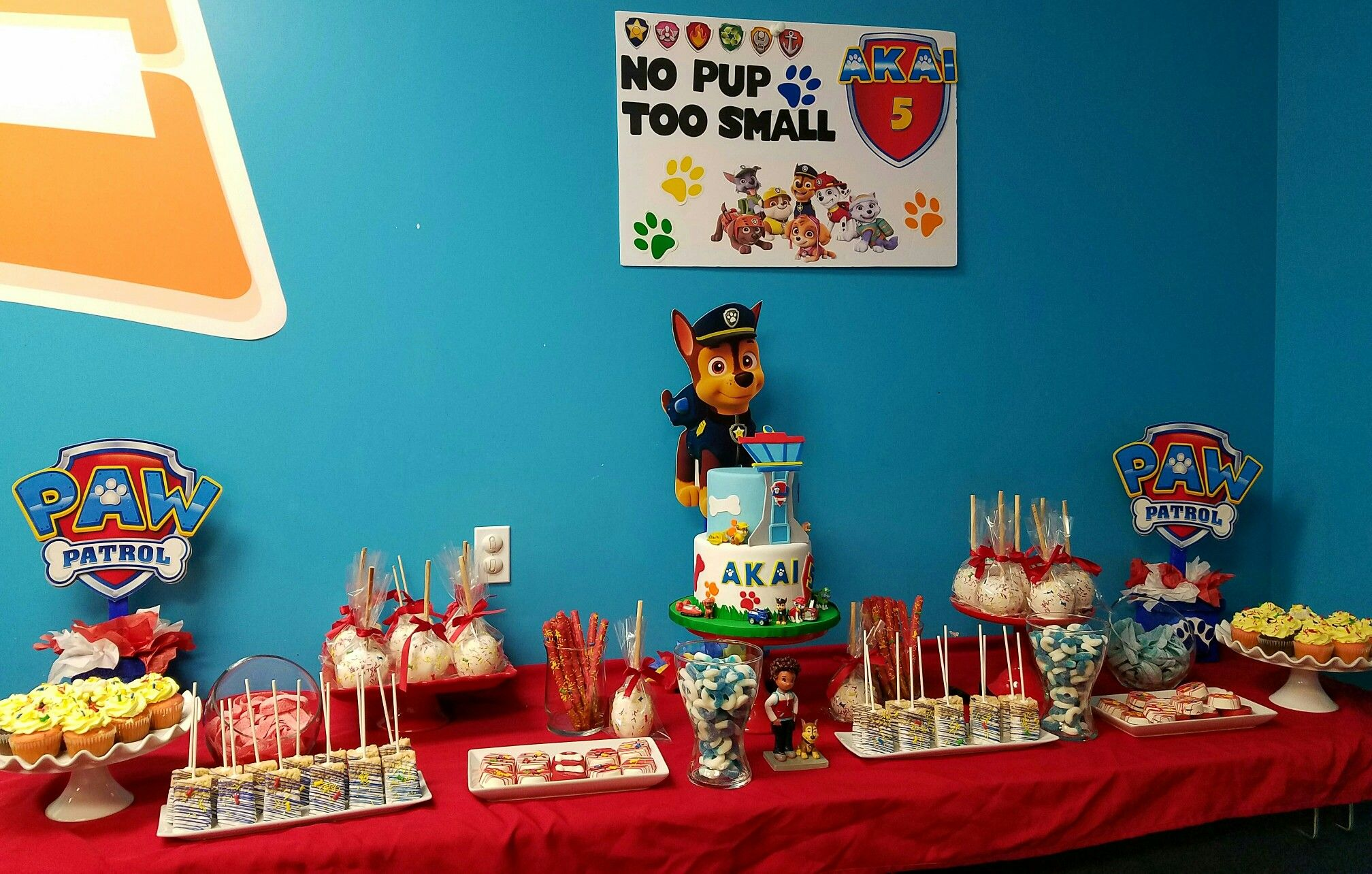 Paw Patrol Candy Table Birthday Candy Table