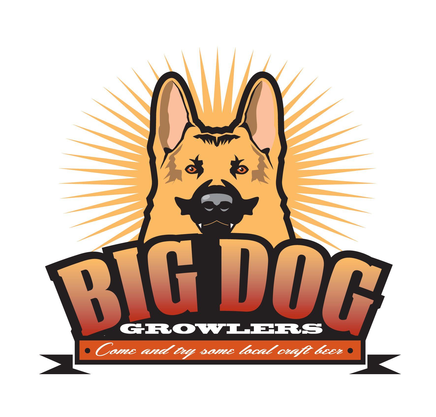 Big Dog Growlers. US Microbrewery logo concept. www