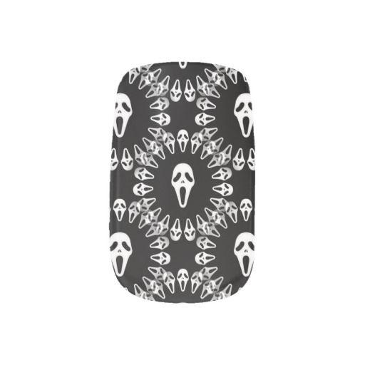 White on Black Halloween Mask Minx Nails | Minx nails ...