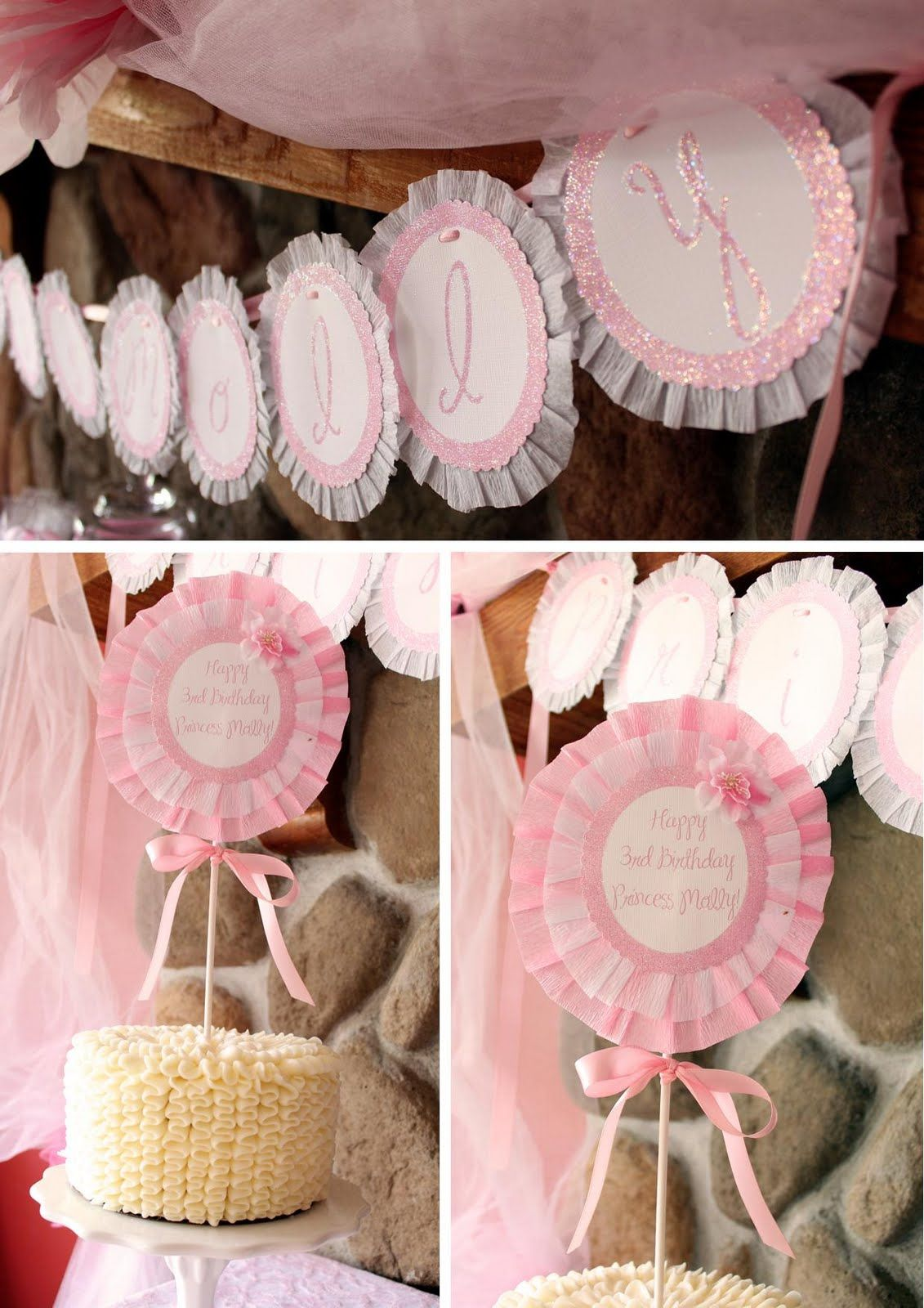 Sweet Little Princess Party | crepe paper frame... | Parties ...