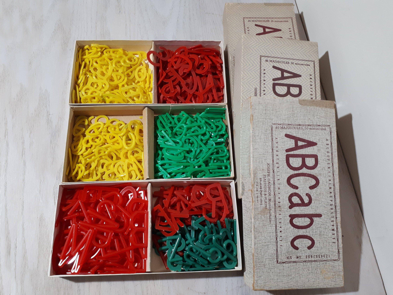 Vintage Plastic Alphabet Letters For School Educational Use Etsy Plastic Letters Vintage Christmas Decorations Vintage Objects
