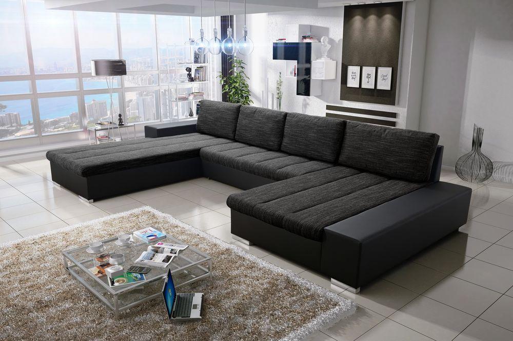 Details Zu Sofa Couchgarnitur Couch Sofagarnitur Verona 3 U Wohnlandschaft Schlaffunktion Wohnen U Couch Minimalistische Mobel