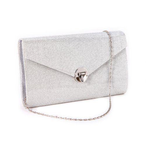 622f19f4f4de0 Damentasche Damen Tasche Clutch Tasche Party Handtasche Abendtasche glitzer  silber