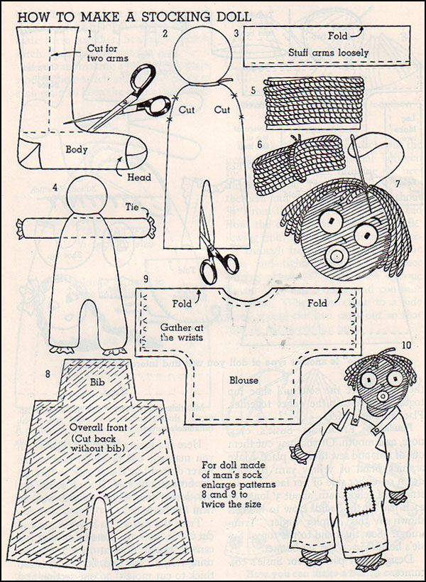 Stocking doll | Dolls | Pinterest | Sewing patterns, Dolls and Sewing