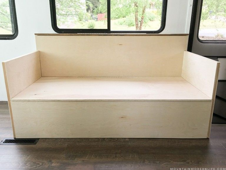 Small Diy Sofa With Storage Diy Sofa Diy Sofa Bed Tiny House