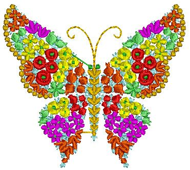 Butterfly Of Flowers Design 063 Nanees
