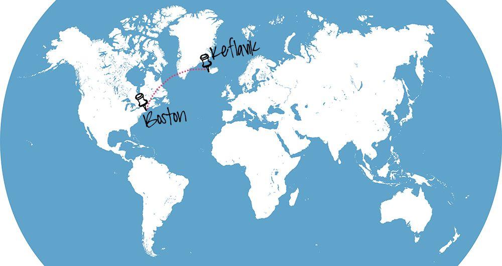 Islande carte du monde