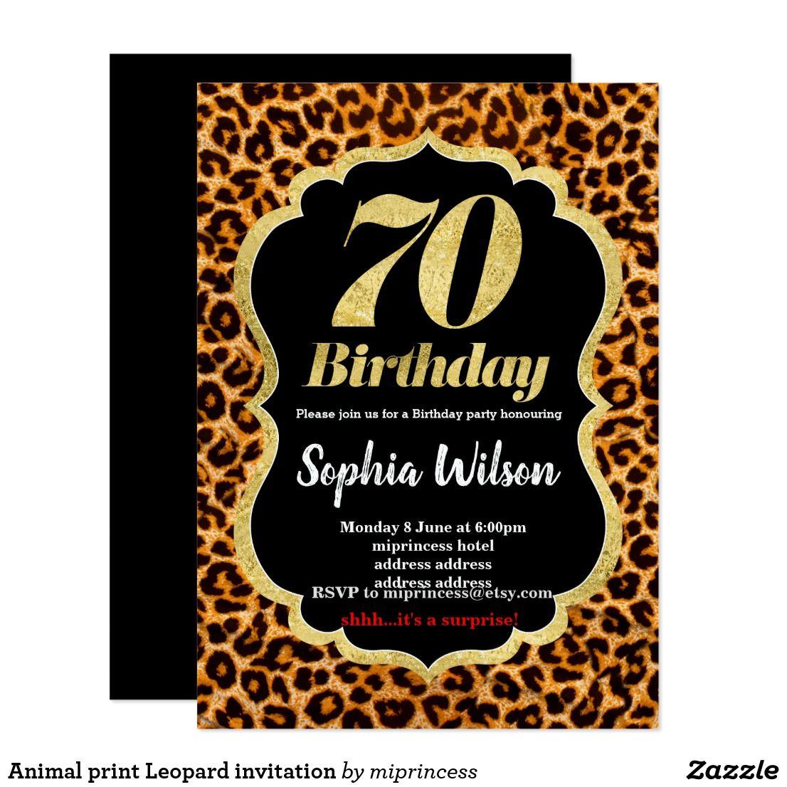 Animal print Leopard invitation | Party fun and Birthdays