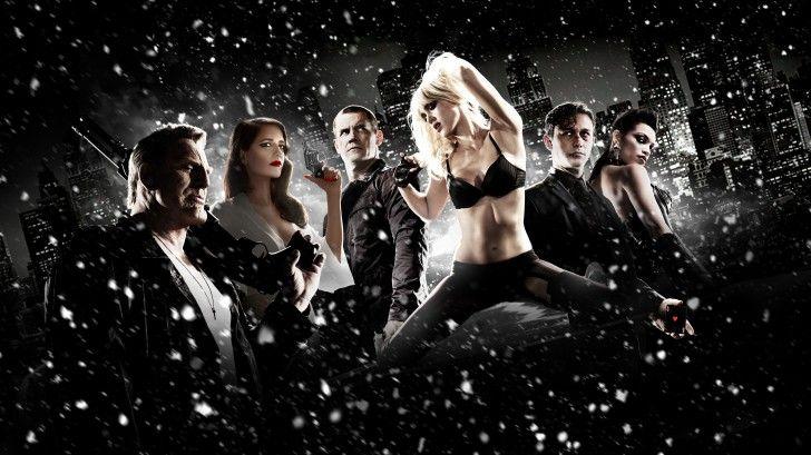 Sin City a Dame to Kill for High Resolution Mickey Rourke Eva Green Josh Brolin Jessica Alba Joseph Levitt Rosario Dawson Movie Wallpaper 4096×2304