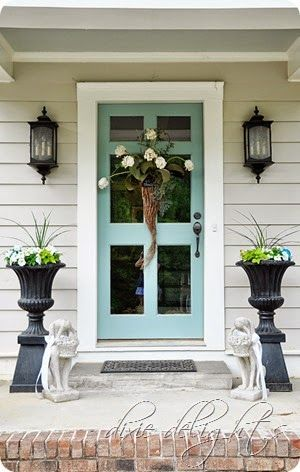 White House Green Shutters Curb Appeal