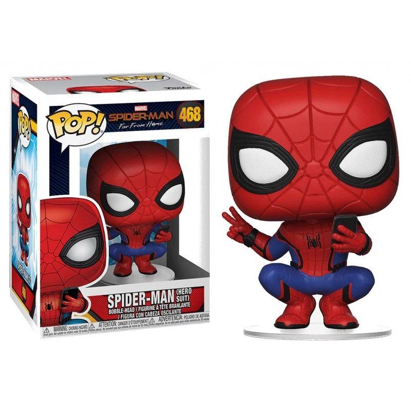 Figurine Spider-Man Far From Home Funko POP! Spider-Man Hero Suit 9cm - Figurine pop, Figurine vinyl