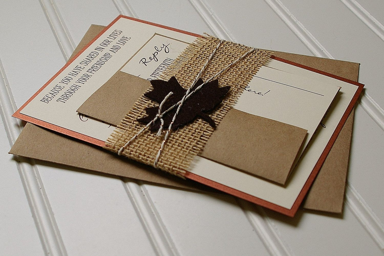 Lace Peach and Mint Rustic Wedding Invitations - Handmade. Rustic ...