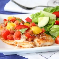 Chipotle Tilapia with Homemade Pico De Gallo - my fresh, easy, healthy meal in honor of World Diabetes Day.