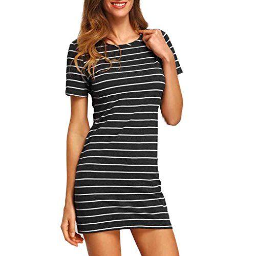 Elecenty Damen Hemdkleid T-Shirt Blusekleid T-Shirtkleid ...