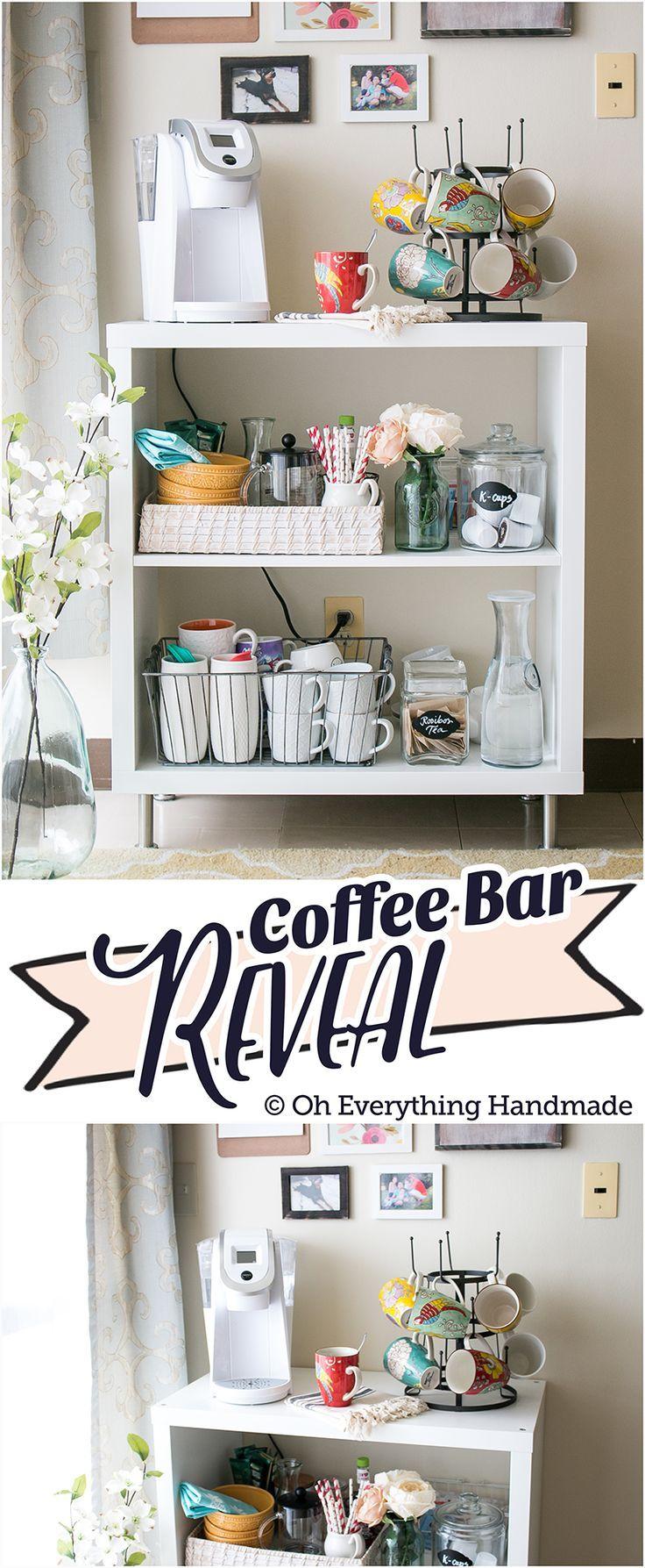 Reveal Ikea Kallax Coffee Bar Oh Everything Handmade Coffee Bar Home Kallax Ikea Coffee Bar [ 1787 x 736 Pixel ]