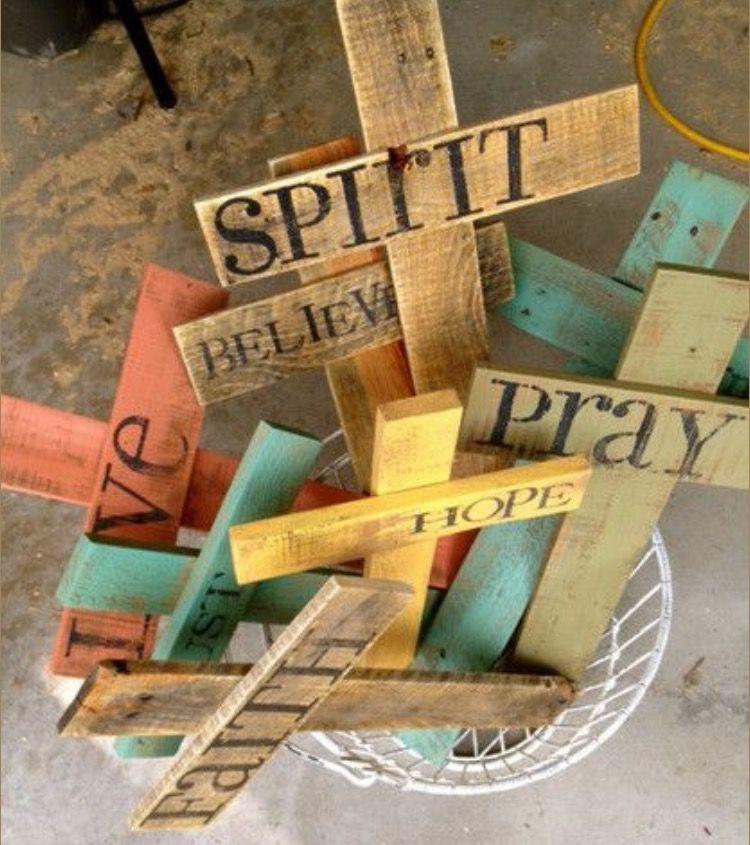 Faith Hope Love With Images Rustic Cross Cross Crafts Custom Cross