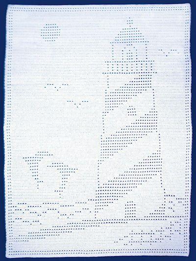 Crochet Afghan Amp Throw Patterns Easy Filet Lighthouse