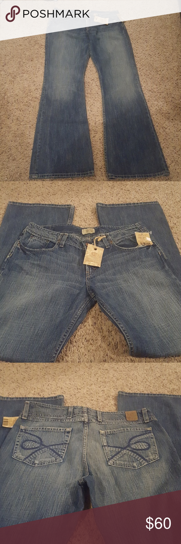 New Bke jeans size 33x33.5 New with tags Bke jeans style Harlow. Slight flare size 33x33.5. BKE Jeans Flare & Wide Leg