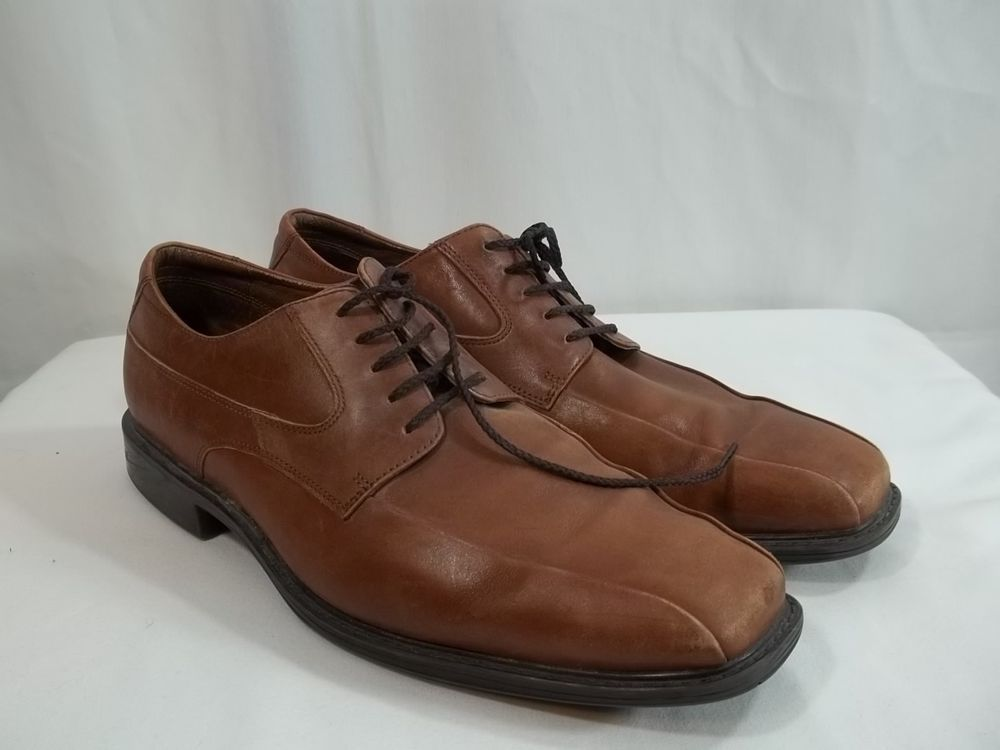 Rockport Men's Oxford Camel Brown Size 12W Men's Leather Shoes #Rockport  #Oxfords