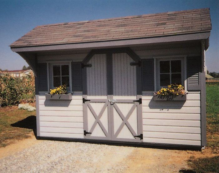 Best 8X12 Gray Style Outdoor Decor Decor Shed 640 x 480