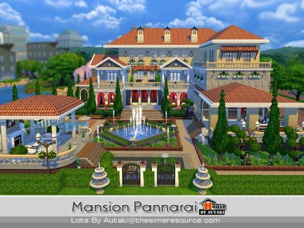 The sims resource mansion pannarai by autaki sims 4 for Planos casas sims