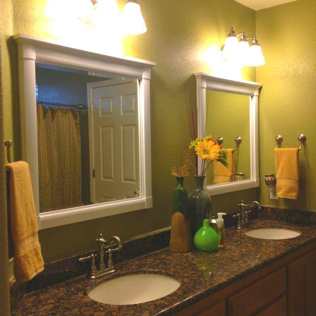 double vanity bathroom went from a large single mirror on custom bathroom vanity mirrors id=39981
