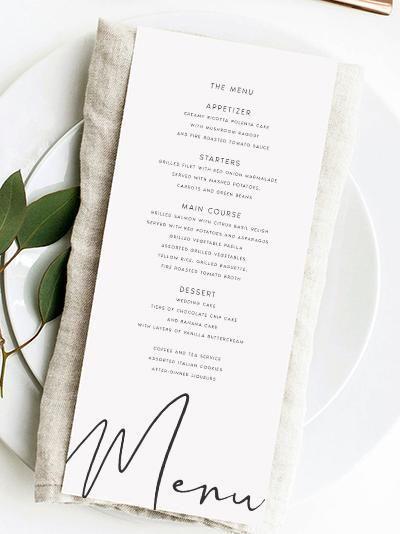 wedding menus #menus Wedding Menus | Style Your Wedding | Free Worldwide Shipping – Blush Wedding Invitations #menus