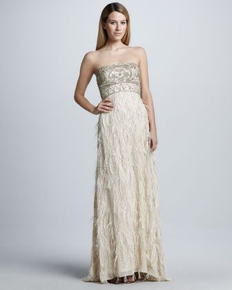 Sue Wong Strapless Feather Trim Gown Sue Wong Wedding Dress Wedding Dresses Ebay Boho Wedding Dress