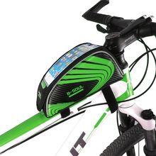 Marco de la bicicleta de Frente Cabeza Top Tube Bolso Impermeable De la Bici Manillar Ciclismo Bolsa de Bicicleta Accesorios Del Teléfono de Pantalla Táctil de 5.5 Pulgadas(China (Mainland))