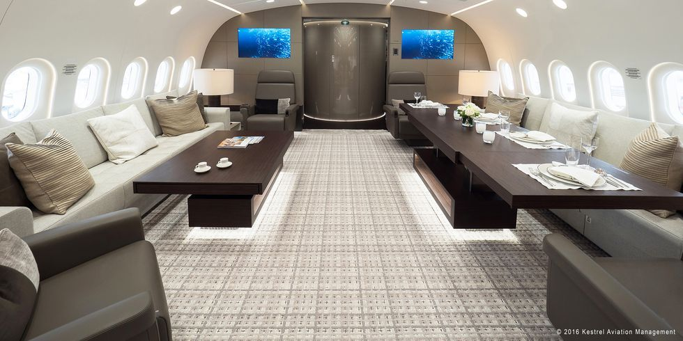 Image boeing dreamliner private jet interior aircraft interiors also what  converted into looks like on the rh pinterest