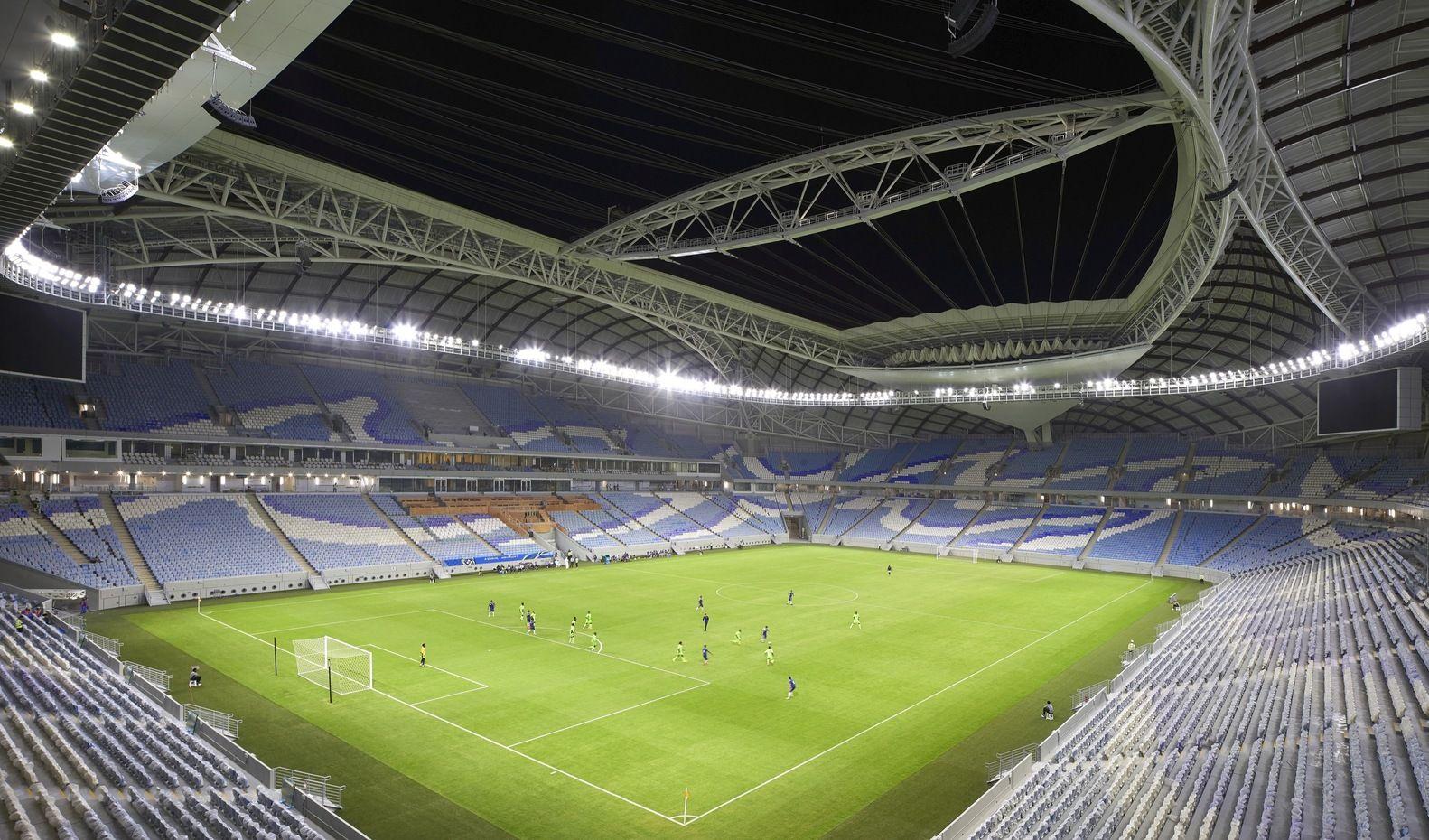 Gallery Of Zaha Hadid Architects First 2022 Qatar World Cup Stadium Completed 9 2022 Fifa World Cup Zaha Hadid Qatar World Cup Stadiums