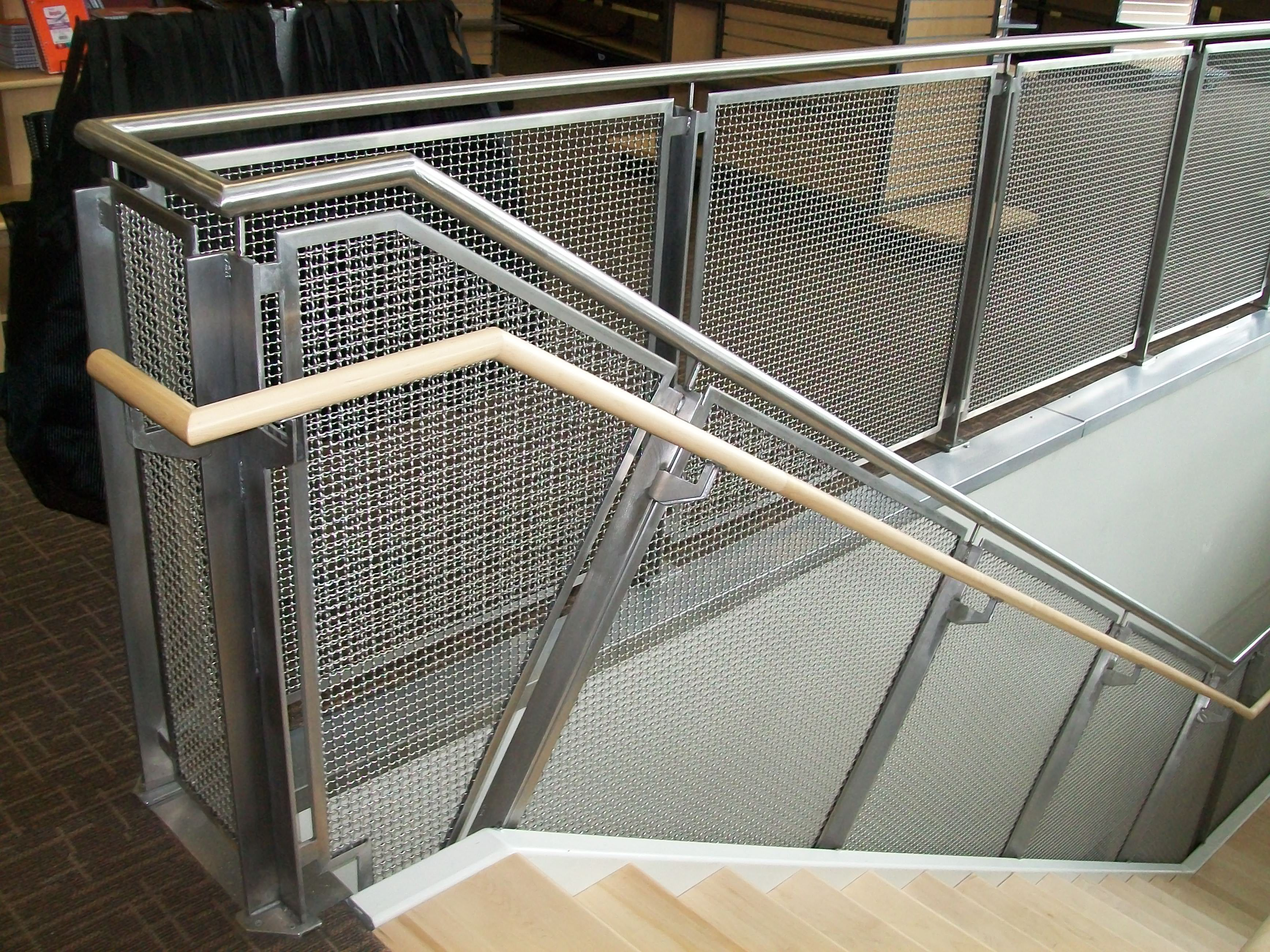 woven wire metal railings exterior | Stainless Steel Mesh Railing ...