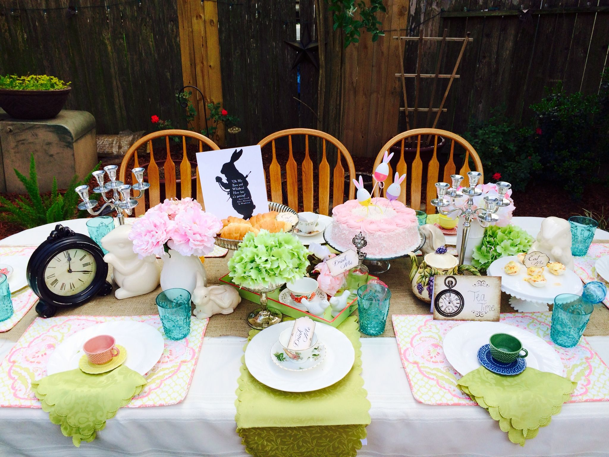 85d788541af0 Easter Tea Party   Alice in Wonderland Tea Party   Mad Hatter Tea Party  with www