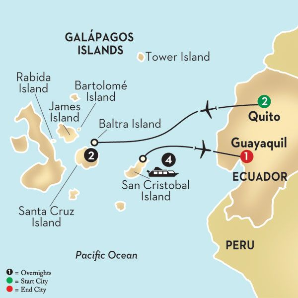 The Galapagos Islands Map on