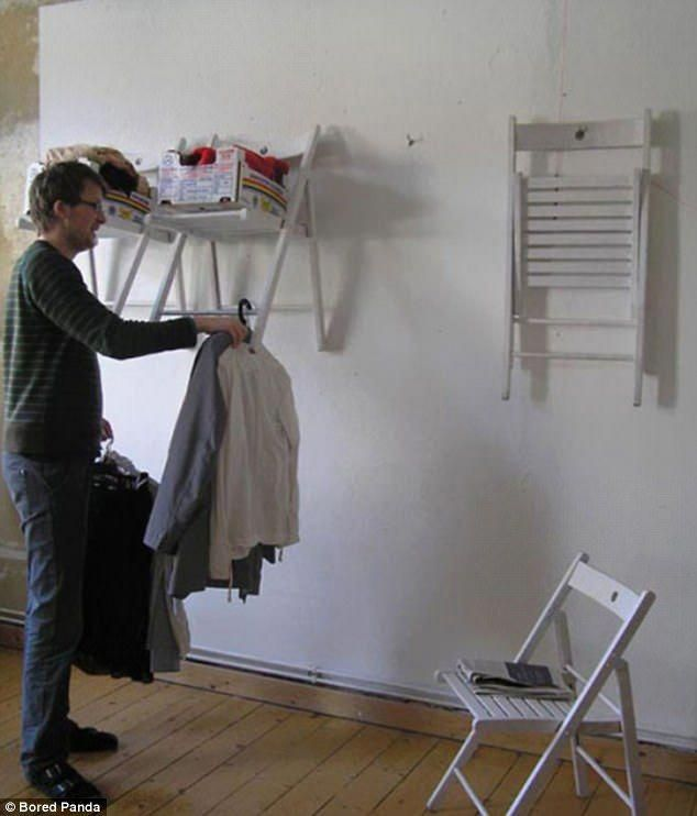 Cool Give Old Chairs A New Life By Attaching Them To The Wall To Ibusinesslaw Wood Chair Design Ideas Ibusinesslaworg