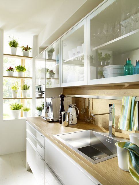 Fliederweiß Ulme Detail Küchenzeile cocinas Pinterest - kleine küchenzeile günstig