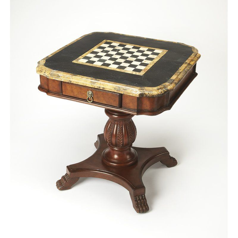 Butler Heritage Antique Pedestal Game Table Perigold