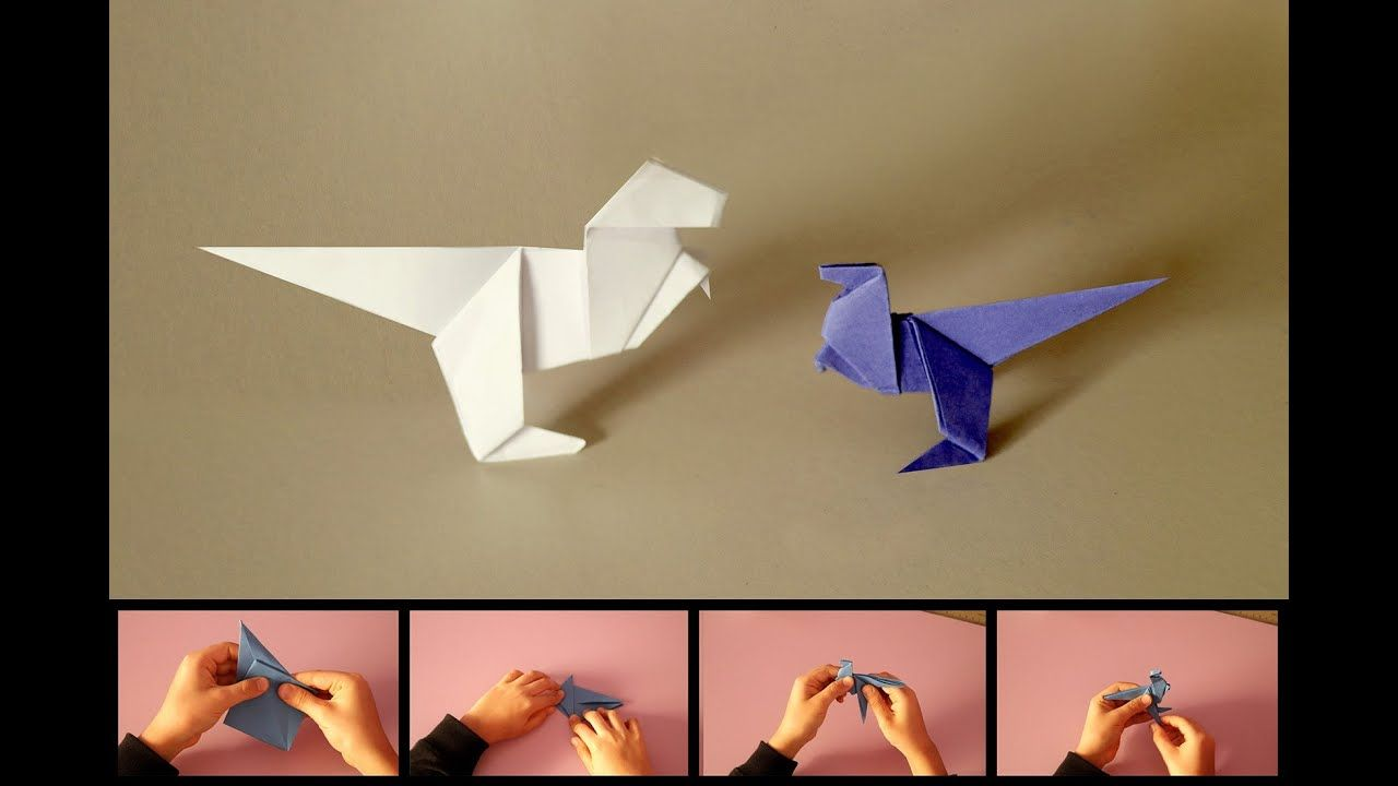 T Rex Origami Dinausore اوريغامي Origami Make It Yourself Need This